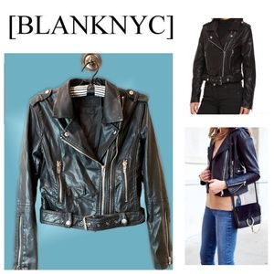 EUC BlankNYC Vegan Leather Moto Jacket, XS